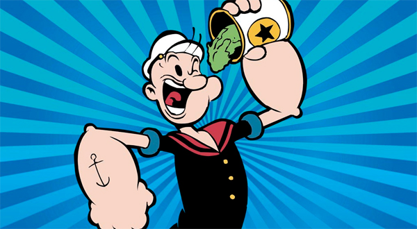 Popeye, un grand amateur d'épinards !
